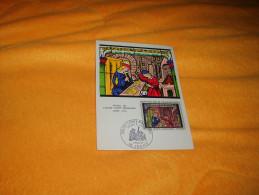 CARTE PHILATELIQUE DE 1967. / VITRAIL DE L'EGLISE SAINTE MADELEINE SAINT-ELOI  / CACHET + TIMBRE. - 1960-69