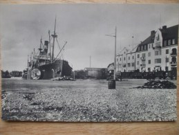 Lulea Sodra Hamnen SWEDEN - Fine Ship Harbour View - B/W R/P Unused - Zweden