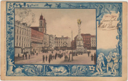 Gruss Aus LINZ A. Donau-1903 Animé (coin Pli) - Linz