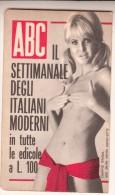 """CALENDARIETTO-ALMANACCO-CALENDARIO-CALENDRIER-KALENDER-1968""""ABC""""  COMPLETO E INTEGRO-UNA PAGINA FRONTE RETRO- - Calendriers"""
