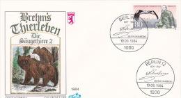 Germany Berlin 1984 Alfred Brehm, FDC - [5] Berlin