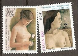 Italy. Scott # 2328-29 MNH. Breast Diseases. 2000 - 1991-00: Ungebraucht
