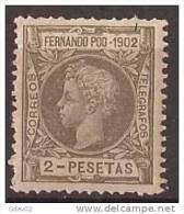 FPOO116-B1051TO.Guinea Guinee .FERNANDO POO. ESPAÑOL ALFONSO XIII  1902  (Ed 116**) Sin Charnela.MAGNIFICO. - Infancia & Juventud