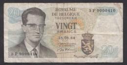 België Belgique Belgium 15 06 1964 20 Francs Atomium Baudouin. 3 F 9000410 - [ 6] Treasury