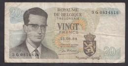 België Belgique Belgium 15 06 1964 20 Francs Atomium Baudouin. 3 G 0814818 - [ 6] Schatzamt