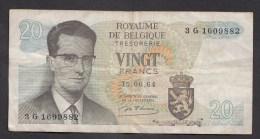 België Belgique Belgium 15 06 1964 20 Francs Atomium Baudouin. 3 G 1609882 - [ 6] Treasury