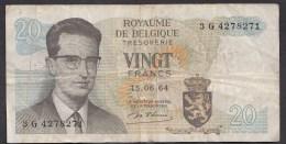 België Belgique Belgium 15 06 1964 20 Francs Atomium Baudouin. 3 G 4278271 - [ 6] Treasury