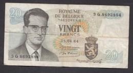 België Belgique Belgium 15 06 1964 20 Francs Atomium Baudouin. 3 G  8692884 - [ 6] Staatskas