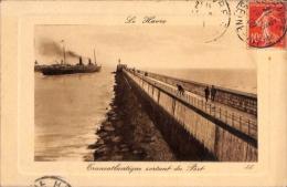 Le Havre / Transatlantique Sortant Du Port - Dampfer