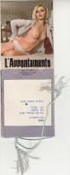 """CALENDARIETTO-ALMANACCO-CALENDARIO-CALENDRIER-KALENDER-1976 """"L'APPUNTAMENTO"""" COMPLETO-9 FOTO-PINO PEGLI - Formato Piccolo : 1971-80"""