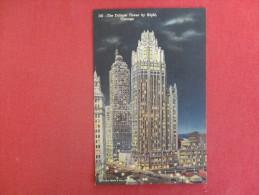 - Illinois> Chicago  -- Tribune Tower By Night  Ref 1349 - Chicago