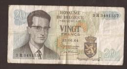België Belgique Belgium 15 06 1964 20 Francs Atomium Baudouin. 3 H 3481557 - [ 6] Staatskas