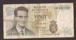 België Belgique Belgium 15 06 1964 20 Francs Atomium Baudouin. 3 H 6027396 - [ 6] Treasury