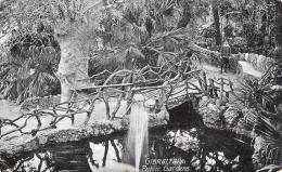 GIBRALTAR 191? ... Public Gardens, 2 Fach Frankierung, Karte Gel.191? N.England - Gibraltar
