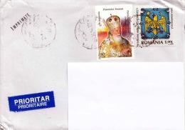 RUMÄNIEN ... 2 Sondermarken Auf Brief - 1948-.... Republiken