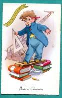 ENFANTS -  PONTS ET CHAUSSEES  Garçon -   2scans - Dessins D'enfants