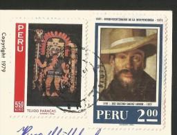 PERU Trujillo Wood Block Print Jose Ocas Chan Ruins 1979 - Pérou