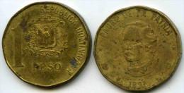 République Dominicaine Dominican Republic 1 Peso 1991 KM 80.1 - Dominicana