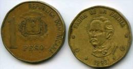 République Dominicaine Dominican Republic 1 Peso 1993 KM 80.2 - Dominicaine