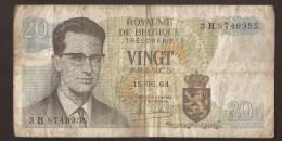 België Belgique Belgium 15 06 1964 20 Francs Atomium Baudouin. 3 H 8749955 - 20 Francs