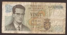 België Belgique Belgium 15 06 1964 20 Francs Atomium Baudouin. 3 J  2039119 - [ 6] Treasury