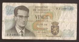 België Belgique Belgium 15 06 1964 20 Francs Atomium Baudouin. 3 J  2466125 - [ 6] Treasury