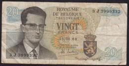 België Belgique Belgium 15 06 1964 20 Francs Atomium Baudouin. 3 J  3999332 - 20 Francs