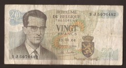 België Belgique Belgium 15 06 1964 20 Francs Atomium Baudouin. 3 J  5076482 - [ 6] Treasury