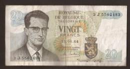 België Belgique Belgium 15 06 1964 20 Francs Atomium Baudouin. 3 J  5582483 - [ 6] Schatzamt
