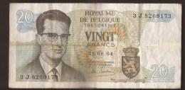 België Belgique Belgium 15 06 1964 20 Francs Atomium Baudouin. 3 J  8269173 - [ 6] Treasury