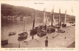 VAR 83.SAINT ST MANDRIER PREPARATIFS POUR LE DEPART DE PECHE - Saint-Mandrier-sur-Mer