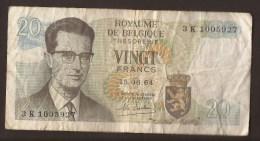 België Belgique Belgium 15 06 1964 20 Francs Atomium Baudouin. 3 K 1005927 - [ 6] Tesoreria