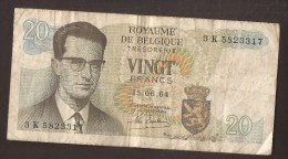 België Belgique Belgium 15 06 1964 20 Francs Atomium Baudouin. 3 K  5823317 - [ 6] Treasury