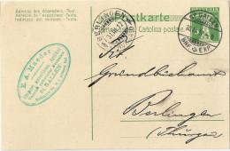 """PK 39  """"Maeder, Import Amerikanische Artikel, St.Gallen""""             1912 - Entiers Postaux"""