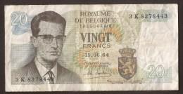 België Belgique Belgium 15 06 1964 20 Francs Atomium Baudouin. 3 K  8378443 - [ 6] Tesoreria
