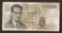 België Belgique Belgium 15 06 1964 20 Francs Atomium Baudouin. 3 L 4160330 - 20 Francs