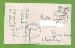 Gnesen 01.7.43 Feldpost  2.Fuß-..Btt.27  Carte Photo - 1939-44: 2ème Guerre Mondiale
