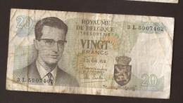 België Belgique Belgium 15 06 1964 20 Francs Atomium Baudouin. 3 L 5907462 - [ 6] Schatzamt