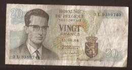 België Belgique Belgium 15 06 1964 20 Francs Atomium Baudouin. 3 L 9389740 - [ 6] Tesoreria
