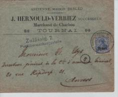 TP Oc 31 S/L.Publicitaire Hernould-Verriez Marchand De Charbon Tournai 1917 Zulässig 7 PR821 - [OC26/37] Staging Zone