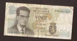 België Belgique Belgium 15 06 1964 20 Francs Atomium Baudouin. 3 M 2463212 - [ 6] Treasury