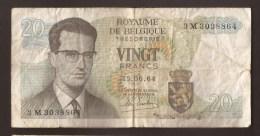 België Belgique Belgium 15 06 1964 20 Francs Atomium Baudouin. 3 M 3273524 - [ 6] Schatzamt