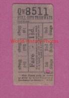 Ticket Ancien De Tramway - HULL CITY - Compagnie Des Tramways - Transportation Tickets