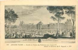 75 - Ancien PARIS - Jardin Et Palais Des Tuileries Sous Louis XV. - Parchi, Giardini