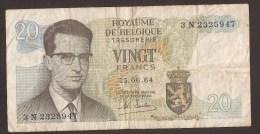 België Belgique Belgium 15 06 1964 20 Francs Atomium Baudouin. 3 N 2325947 - [ 6] Schatzamt