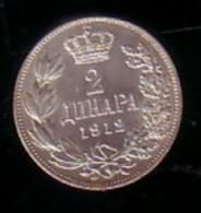 SERBIA - 1912 - King Petar - 2Lv Silver - Serbie