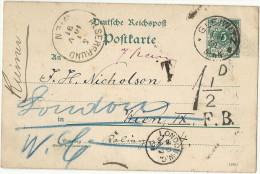 Allemagne / Deutschland - Entier Postal De GLEIWITZ Pour Vienne (Autriche) Redirigée à Londres (GB) - 1891 - Covers & Documents