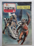 Tintin N° 8 De 1955 Couverture Follet.  Le Secret De L'homme En Noir, H.Vernes. Bon état - Kuifje