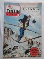 Tintin N° 9 De 1955 Couverture  Funcken.  Le Secret De L'homme En Noir, H.Vernes.Bon état - Tintin