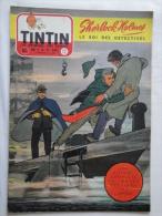 Tintin N° 12 De 1955 Couverture  De Graton. Sherlock Holmès. Le Secret De L'homme En Noir, H.Vernes. Bon état - Tintin
